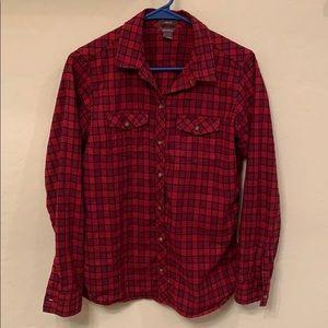 Eddie Bauer classic fit flannel. Women's medium